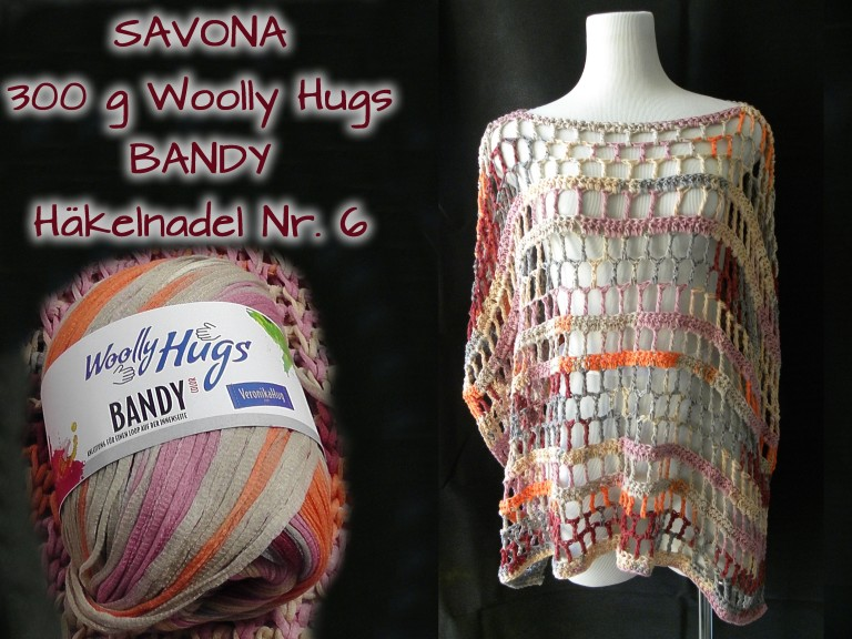 Poncho SAVONA aus Woolly Hugs BANDY