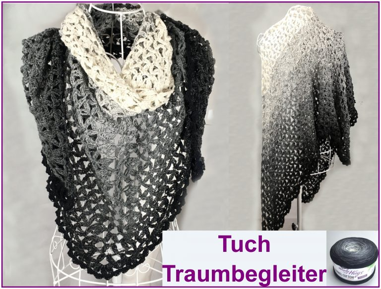 "Tuch ""Traumbegleiter"" Schriftliche Anleitung auf crazypatterns: https://www.crazypatterns.net/de/store/VeronikaHug bzw. auf makerist: https://www.makerist.de/users/veronika_hug"