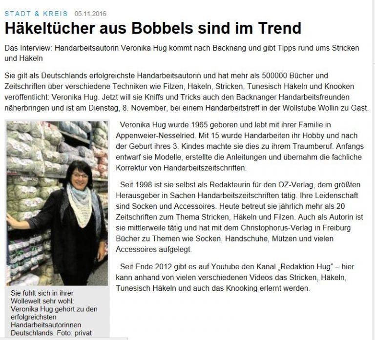 Auszug aus der Backnanger Kreiszeitung (BKZ)