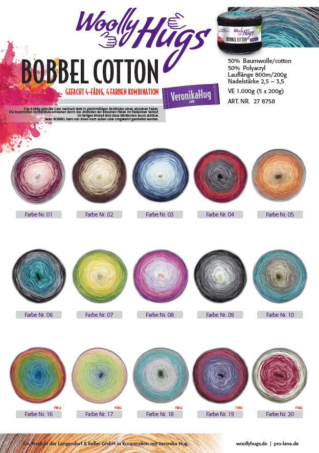 Farbkarte Bobbel Cotton
