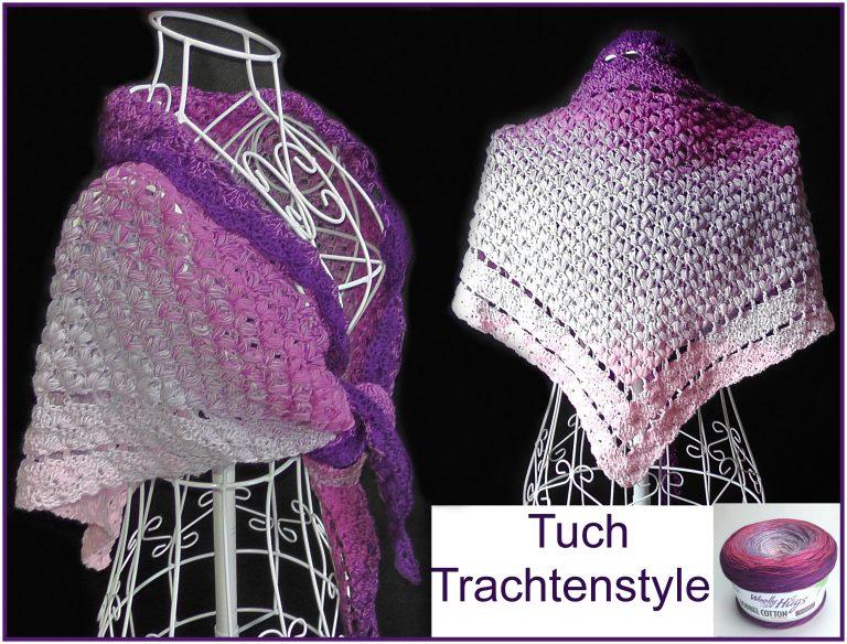 """Tuch """"Trachtenstyle"""" Schriftliche Anleitung: https://www.crazypatterns.net/de/store/VeronikaHug"""