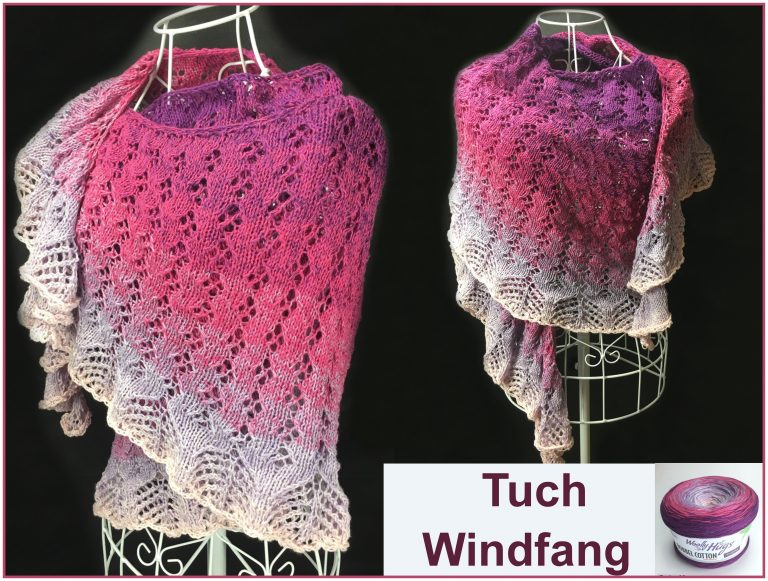 "Tuch ""Windfang"" Schriftliche Anleitung: https://www.crazypatterns.net/de/store/VeronikaHug und auf makerist: https://www.makerist.de/users/veronika_hug"