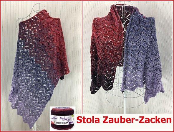 Stola Zauber Zacken Haekeln Mit 1 Bobbel Cotton Von Woolly Hugs 591x450