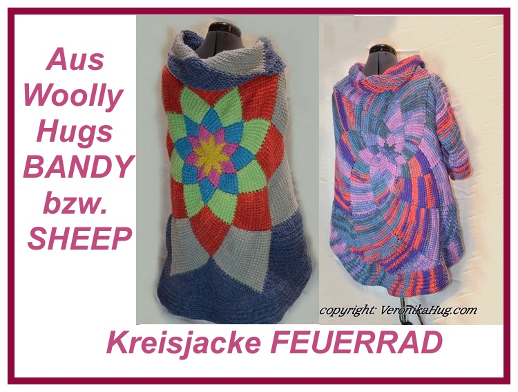 Kreisjacke FEUERRAD Video: https://www.youtube.com/watch?v=2gld9mG4Q5o schriftliche Anleitung: https://www.crazypatterns.net/de/items/22438/kreisjacke-kreisweste-feuerrad-aus-woolly-hugs-bandy-oder-sheep-tunesisch-gehaekelt?ref=VeronikaHug