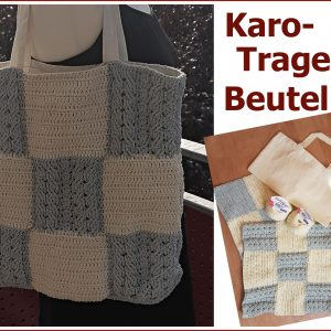Tragebeutel Karo Collage
