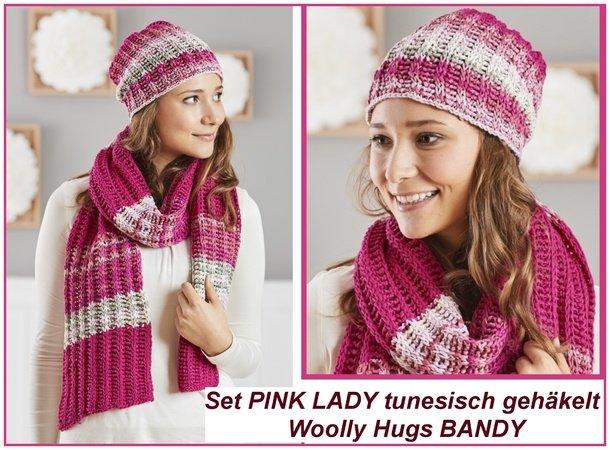 Schal Und Muetze Pink Lady Tunesisch Haekeln 610x450