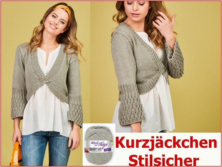 Woolly Hugs Strickanleitung Kurzjacke Stilsicher