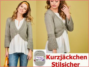 Woolly Hugs Bandy Strickanleitung Kurzjacke Stilsicher