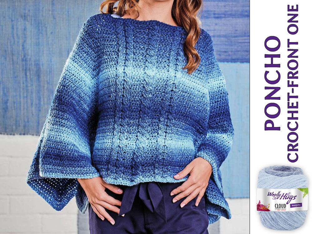 Poncho Chrochet Front One
