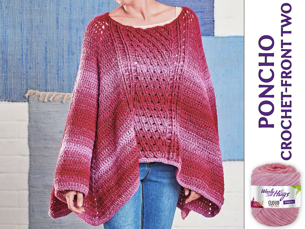 Poncho Chrochet Front Two