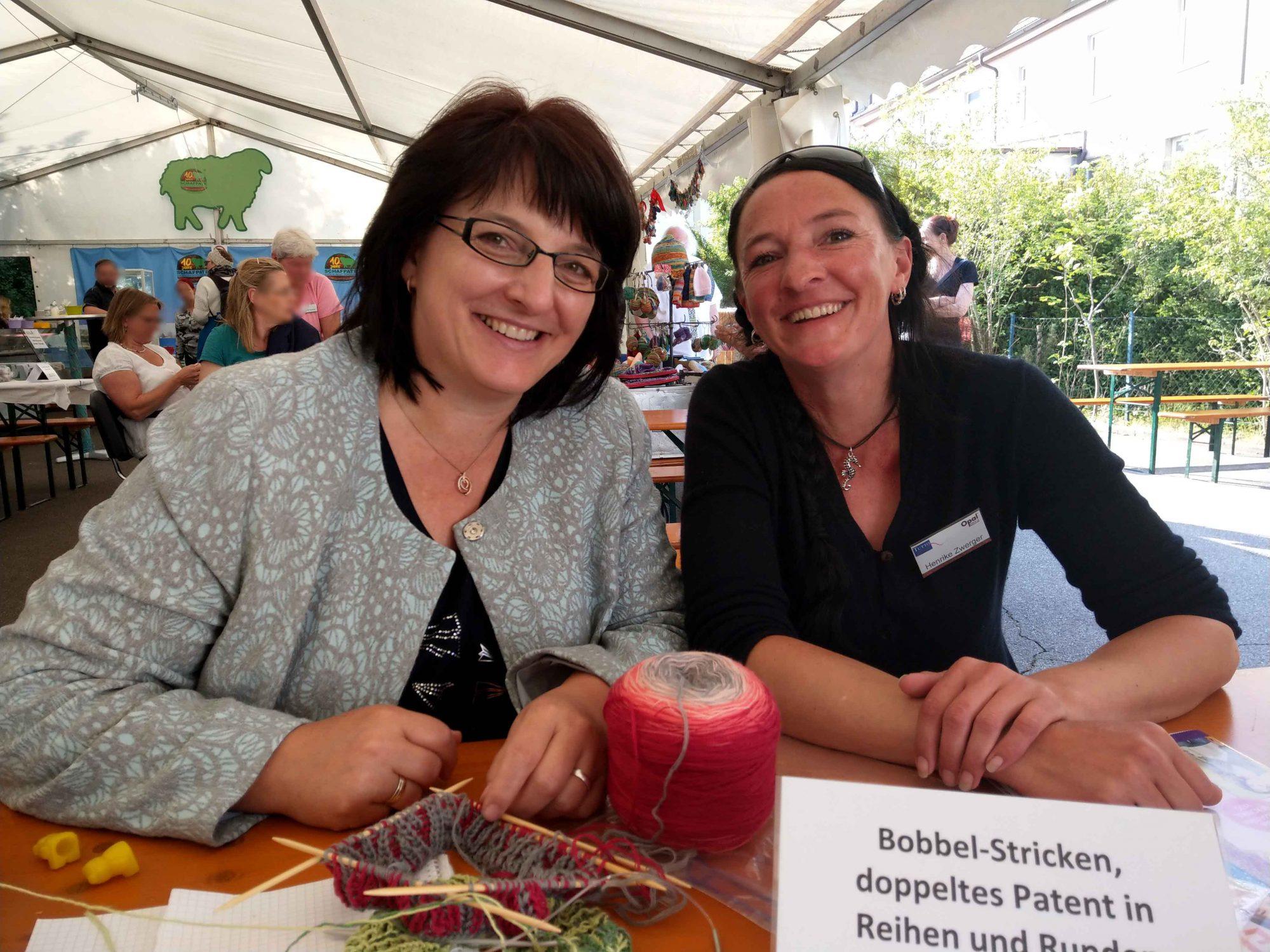 Sockenstrickertreffen Veronika Hug Henrike Zwerger