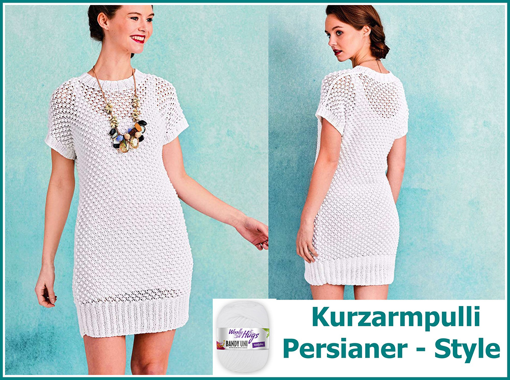 Kurzarmpulli Persianer Style Collage