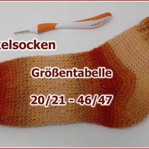 Groessentabelle Haekelsocken Von Groesse 20 21 Groesse 46 47 722x450