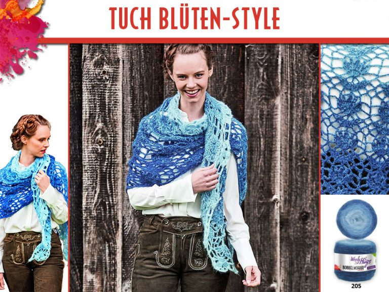 Cover Mohair Blueten Style