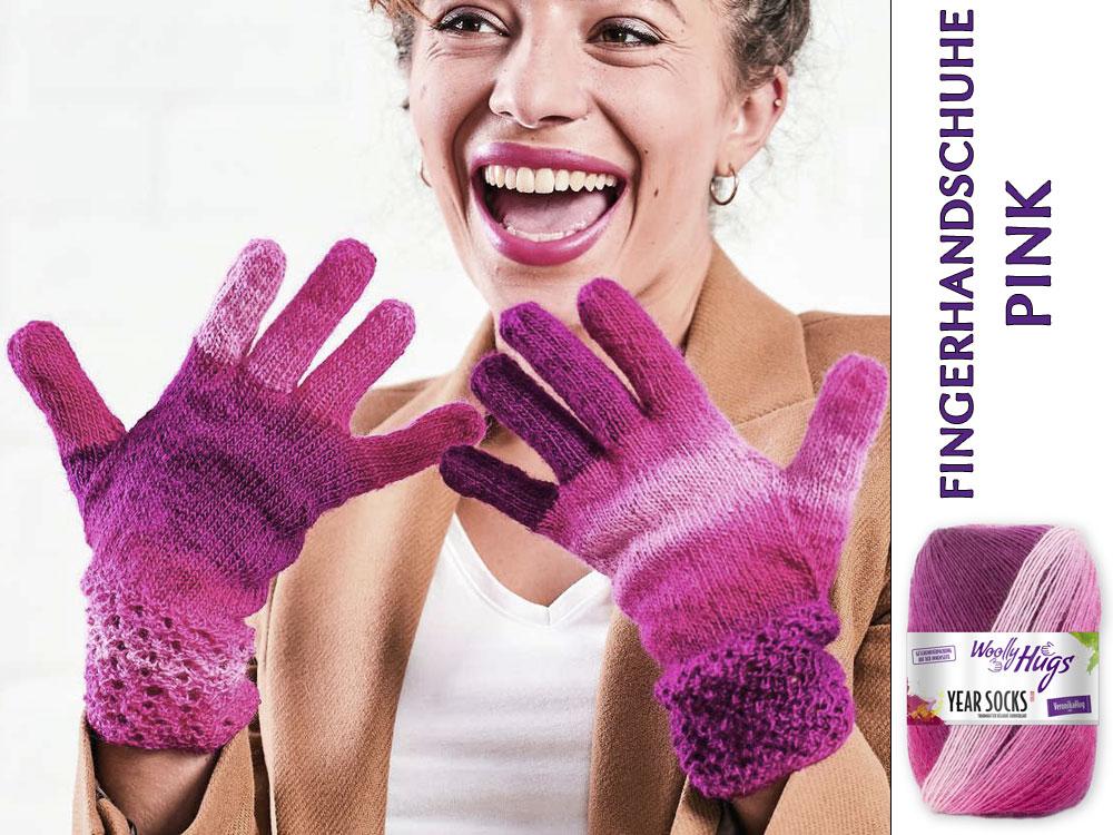 Fingerhandschuhe Pink