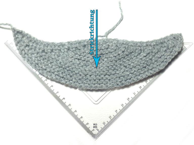 Tuchformen Strick6