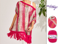 Poncho Summer Pink