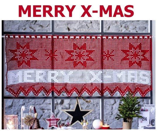 Merry X Mas Gardine Haekeln 539x450