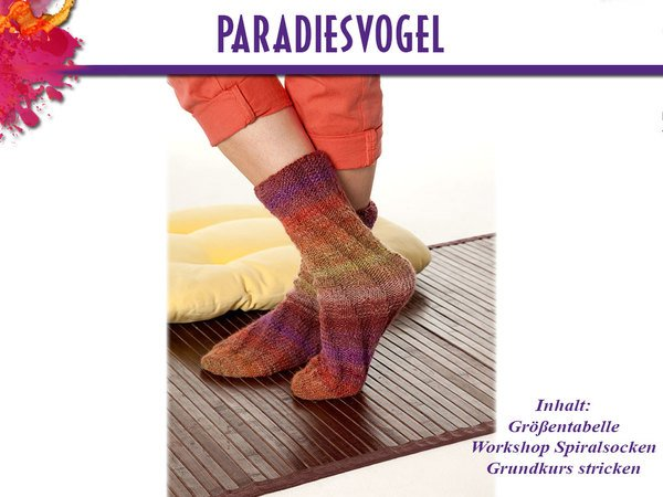 Socken Paradiesvogel 600x450