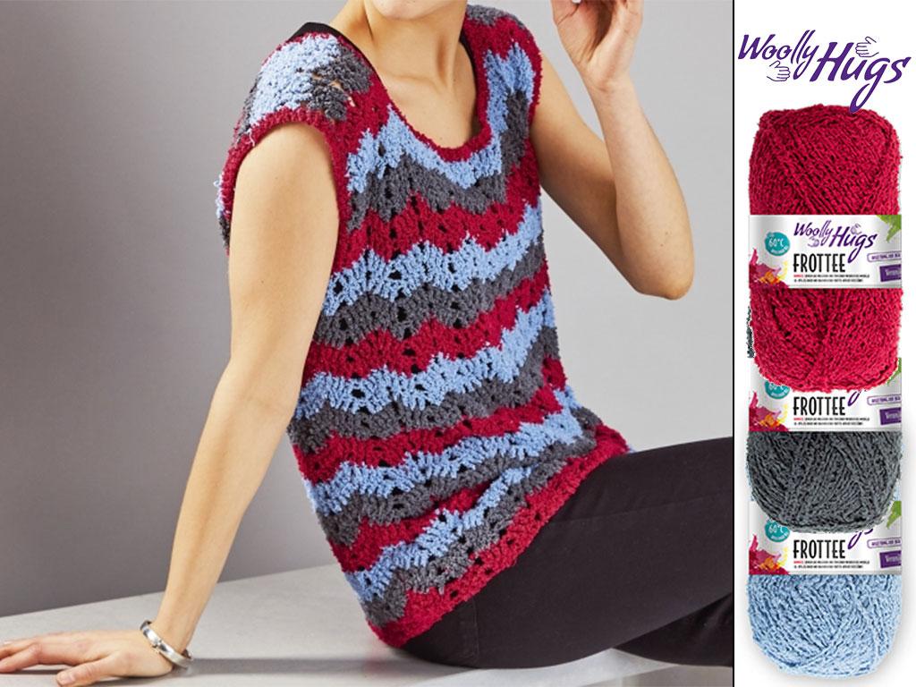 Top Crochet Stripes